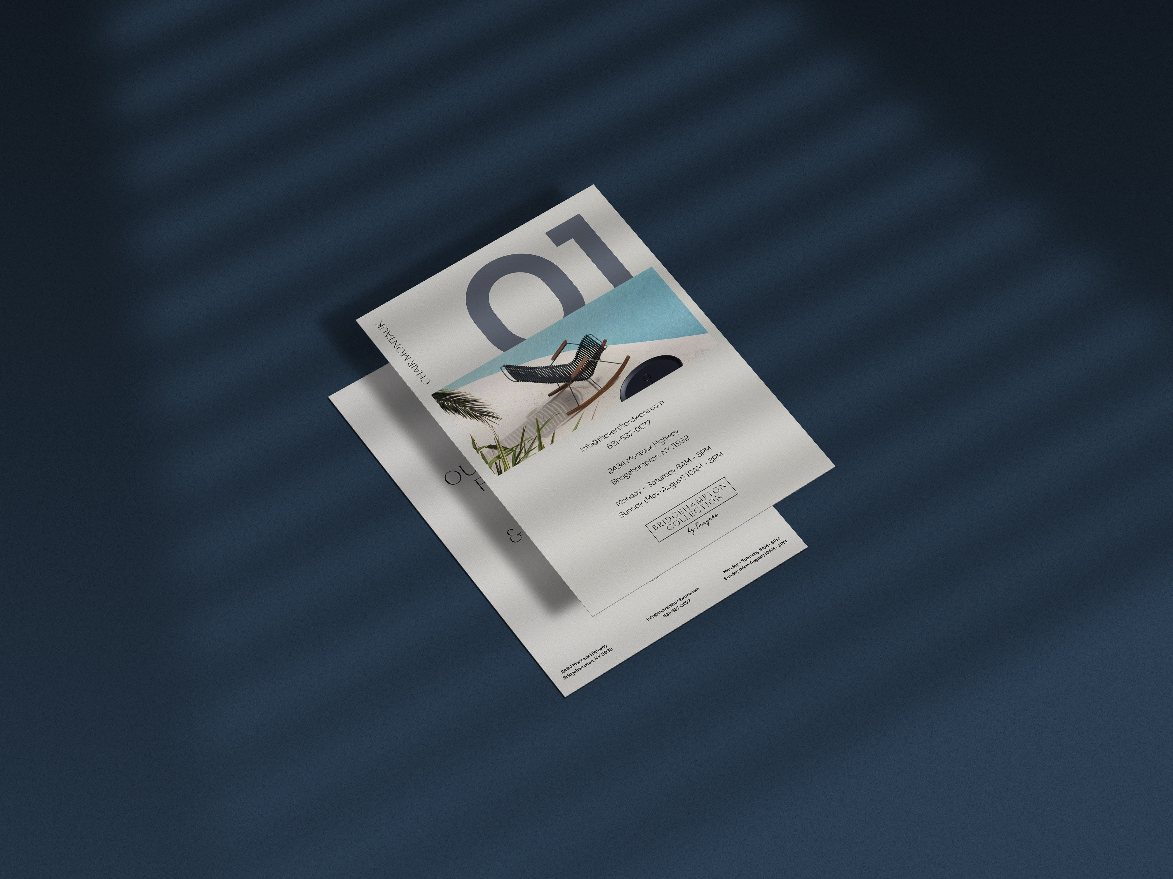 a4 flyer mockup with shadow overlay